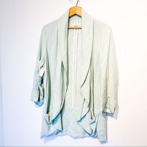 NWT ARITZIA Mint Blue Linen Blazer